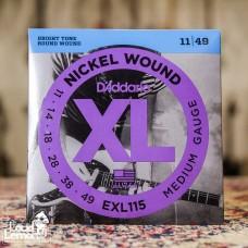 D'Addario EXL115 Nickel Wound 11-49 набор струн для электрогитары