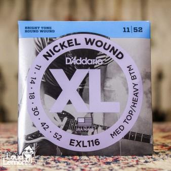 D'Addario EXL116 XL Nickel Wound 11-52 струны для электрогитары