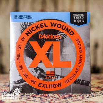 D'Addario EXL110W XL Nickel Wound 10-46 струны для электрогитары с 3-й в обмотке