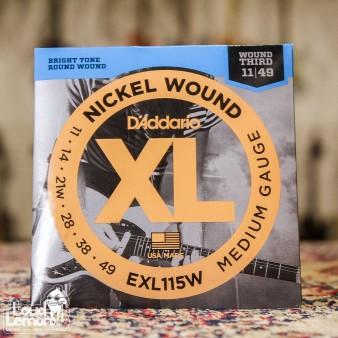 D'Addario EXL115W XL Nickel Wound 11-49 струны для электрогитары с 3-ей в обмотке