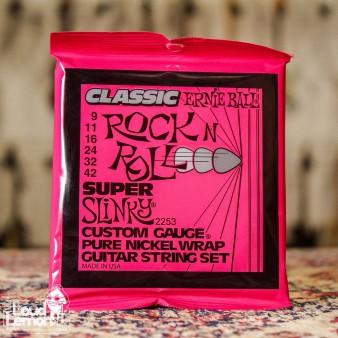Ernie Ball 2253 Pure Nickel Super Slinky 9-42 струны для электрогитары