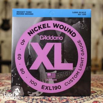 D'Addario EXL190 Nickel Wound 40-100 струны для бас-гитары