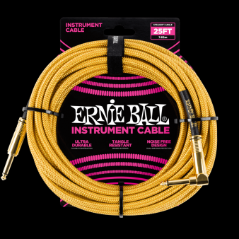 Ernie Ball Кабель 7,6 м  Золотой