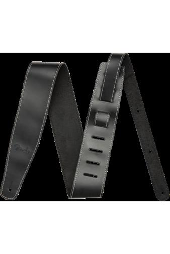 """Broken-In Leather Strap Black 2.5"""""""