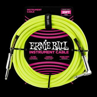 Ernie Ball Кабель 7,6м  Желтый