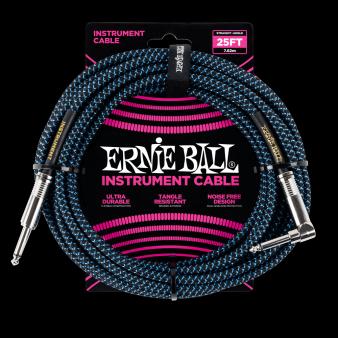 Ernie Ball Кабель 7,6м Синий/Черный