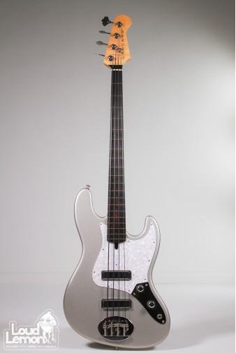 Lakland J-Sonic Fretless Bass 2008 Inca Silver