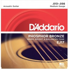 D'Addario EJ17 Phosphor Bronze Medium 13-56