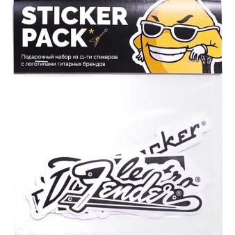 Стикеры с логотипами гитарных брендов. Fender.