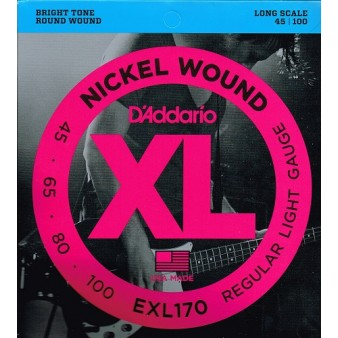 EXL170 Nickel Wound Bass 45-100