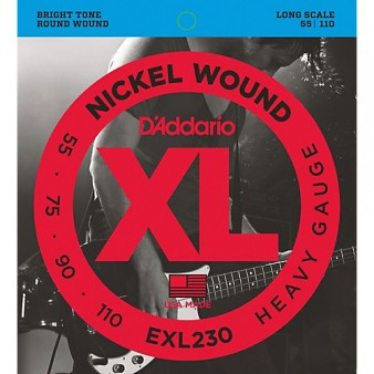 EXL230 Nickel Wound Bass 55-110
