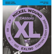 EXL190 Nickel Wound Bass 40-100