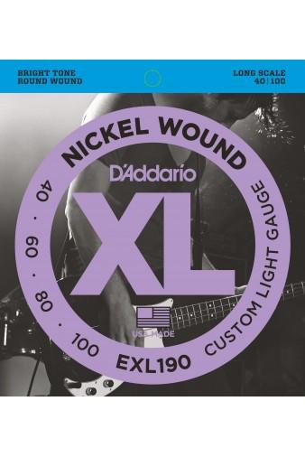 EXL190 Nickel Wound Bass 40-100