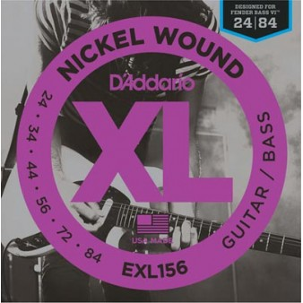 EXL156 Nickel Wound 24-84 Fender Bass VI