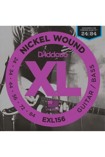 EXL156 Nickel Wound 24-84 Fender Bass VI