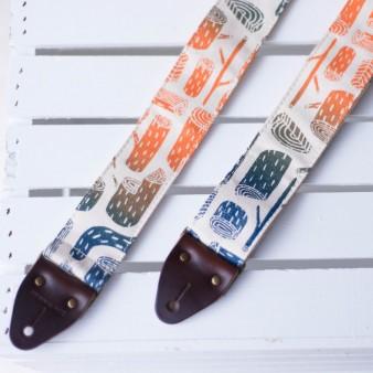 Silkscreen Guitar Strap in Stumps
