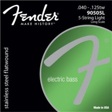 Fender 90505L Stainless Flatwound 40-125 для 5 струнного баса
