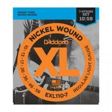 EXL110-7 Nickel Wound 10-59 для 7 струнной электрогитары