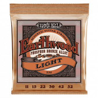 Earthwood Light Phosphor Bronze Acoustic Guitar Strings 11-52
