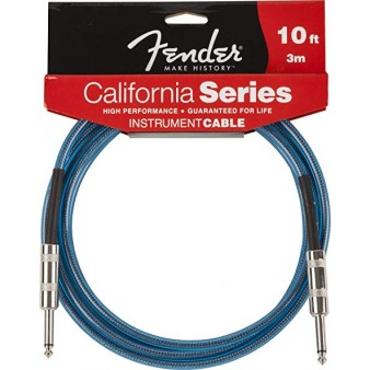 Fender Cable California Series Lake Placid Blue кабель гитарный 3 метра