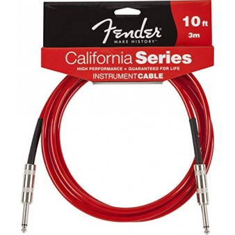 Fender Cable California Series Candy Apple Red кабель гитарный 3 метра