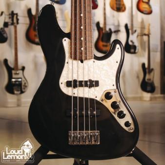 *РЕЗЕРВ* Fender American Deluxe Jazz Bass V Black 1997 USA бас-гитара