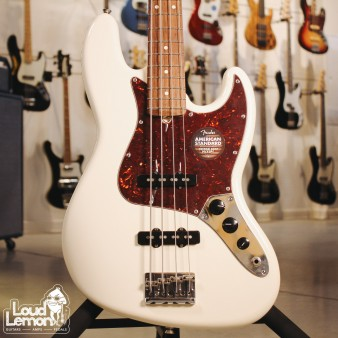 Fender American Standard Jazz Bass Olympic White бас-гитара