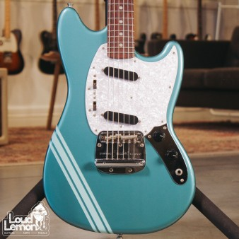 Fender Mustang MG69 Competition Ocean Turquoise Metallic 2006 Japan электрогитара
