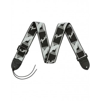 "Fender 2"" Monogrammed Strap Black/Light Grey/Dark Grey гитарный ремень"