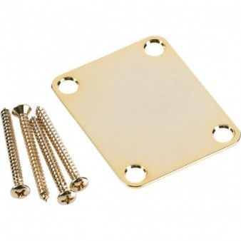 Fender 4-Bolt Vintage Neck Plate 'Plain' (No Logo) Gold некплейт